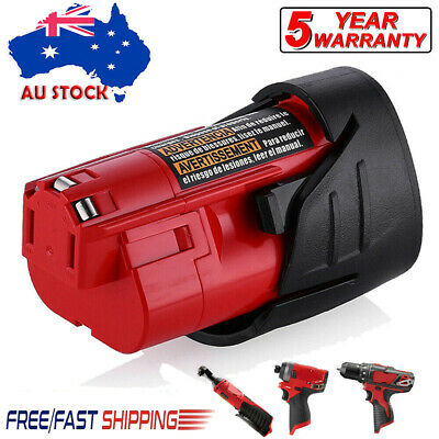 AU14.99 • Buy For Milwaukee M12 12V Lithium Ion 2.5Ah Battery 48-11-2402 48-11-2401 12 Volt AU