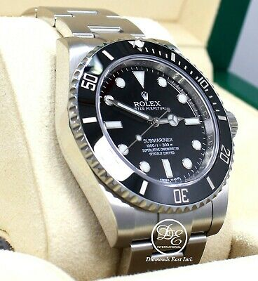 $ CDN13177.06 • Buy Rolex Submariner 114060 Steel Oyster Black Ceramic Bezel Watch BOX/PAPERS *MINT*