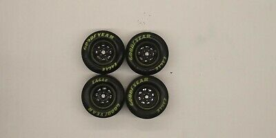 Nascar Wheels Yellow Rim Goodyear Eagle Tires 1:24 Model Diecast Racing Action • 13$