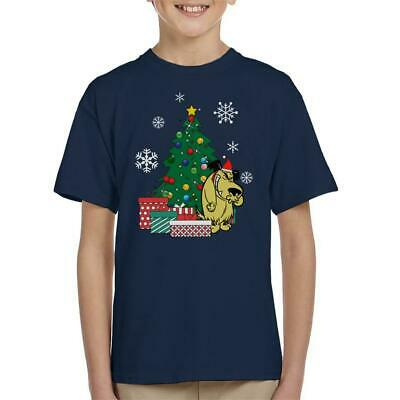 Muttley Around The Christmas Tree Wacky Races Kid's T-Shirt • 12.95£