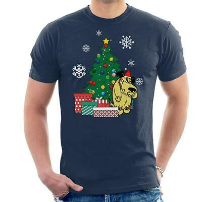 Muttley Around The Christmas Tree Wacky Races Men's T-Shirt • 15.95£