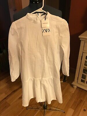 Zara The Peggy Dress White Sz XL  Long Sleeves New • 32$