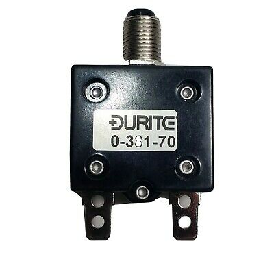 £7.24 • Buy 20A Thermal Circuit Breaker Trip Push Button Re-Settable 12V 24V Durite 0-381-70