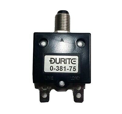 £7.24 • Buy 25A Thermal Circuit Breaker Trip Push Button Re-Settable 12V 24V Durite 0-381-75
