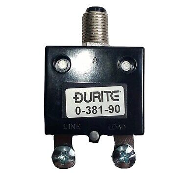 £8.77 • Buy 40A Thermal Circuit Breaker Trip Push Button Re-Settable 12V 24V Durite 0-381-90