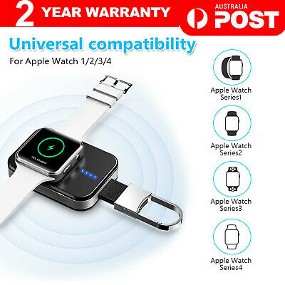 AU16.90 • Buy Portable Watch Wireless Charger For Apple Watch IWatch 1/2/3/4 Keychain Power