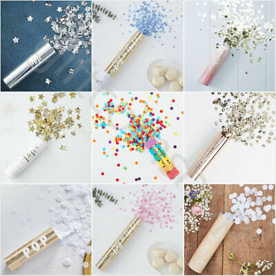 Compressed Air Confetti Cannons Wedding Birthday Baby Shower Hen Party Poppers • 5.95£