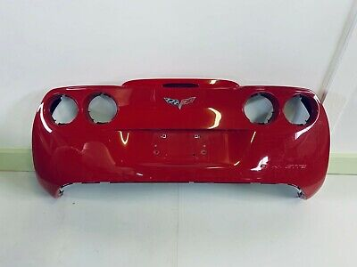 $425 • Buy 2005 - 2013 Corvette C6 Rear Upper Bumper Cover - Victory Red  OE# 15895252