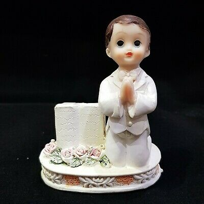 Boy With Bible Christening Confirmation Holy Communion Cake Topper • 6.90£