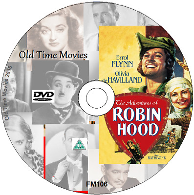 The Adventures Of Robin Hood DVD Errol Flynn, Olivia De Havilland, Movie  (1938) • 1.95£