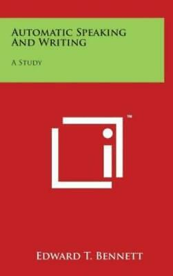 Automatic Speaking And Writing: A Study • 26.82£