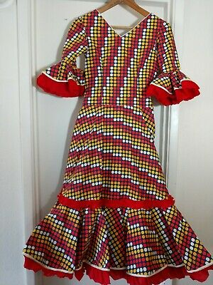 Vintage Square Dance Dress Polka Dot Size Small Costume Theater • 35$