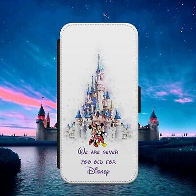 $ CDN17.17 • Buy Mickey Minnie Never Old Flip Wallet Phone Case Cover For Iphone Samsung Huawei