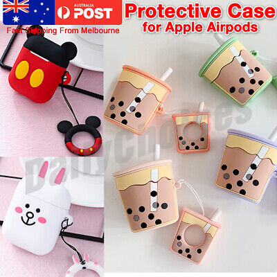 AU11.34 • Buy Cute Cartoon 3D Silicone Airpod Protective Case Cover Skin For Apple Airpods 1 2