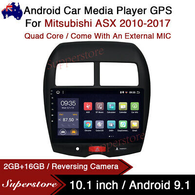 """AU379.05 • Buy 10.1"""" Android 9.1 Car Stereo Media Player GPS Head Unit For Mitsubishi ASX 10-17"""