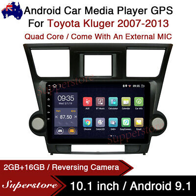 """AU399 • Buy 10.1"""" Android 9.1 Car Stereo Non Dvd GPS Head Unit For Toyota Kluger 07-13 Wifi"""