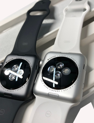 $ CDN331.41 • Buy BRAND NEW Apple Watch Series 3 Black / White Sport Band 38mm (GPS)