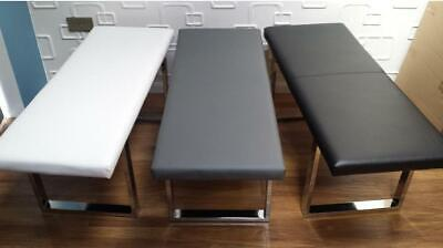 Dining Bench Seat Office Retail Barber Shop BLACK WHITE GREY Faux Leather • 120£