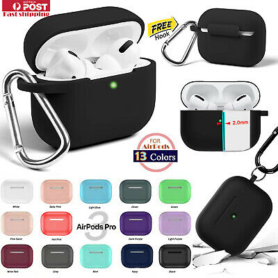 AU6.29 • Buy For Apple Airpods Pro Durable Shockproof Silicon Skin Charging Case Rubber Cover