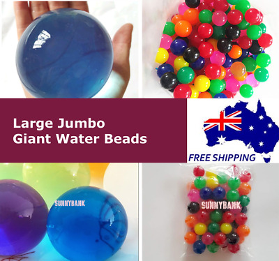 AU4.99 • Buy Large Jumbo Giant Orbeez Crystal Soil Water Balls Jelly Gel Beads Home Wedding