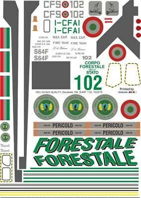 Decals Sikorsky S-64F Forestale I-CFAI • 17.30£
