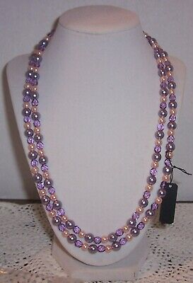 Joan Rivers  Faux  Pearls And Faceted Glass Bead Necklace 45''endless  #9 • 11$