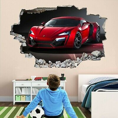 Super Sports Red Car Wall Stickers Mural Decal Print Art Supercar BR1 • 18.99£