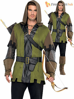 Mens Robin Hood Costume Adult Prince Of Thieves Fancy Dress Medieval Book Film • 23.50£