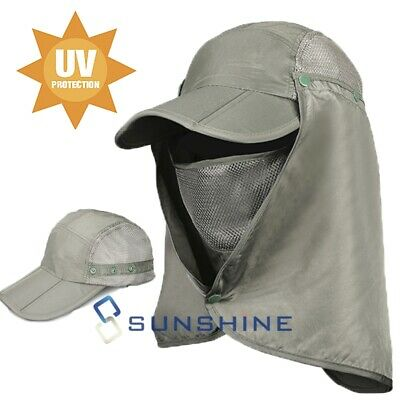 $12.89 • Buy Fishing Garden Sun Cap Solar Protection Shade Hat Neck & Face Flap Cover