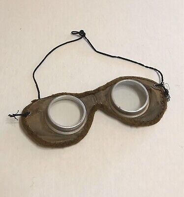 $35 • Buy ANTIQUE 1920-30s Mesh Safety Goggles, Steampunk, Cool, Metal, Plastic Lens, Funk