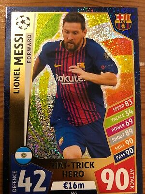 Match Attax Messi Hat Trick Hero • 1.50£