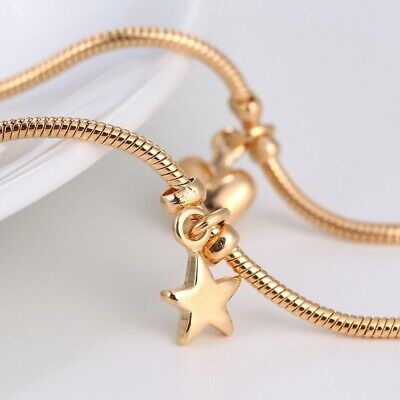 £6.99 • Buy 9K 9ct Yellow  Gold FILLED  ANKLE CHAIN Heart Stars Bells Anklet. 10.6  Gift1329