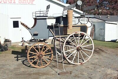 $25000 • Buy Horse Drawn Brewster Roof SeatedSleigh Buggy Wagon Carriage Antique Cart