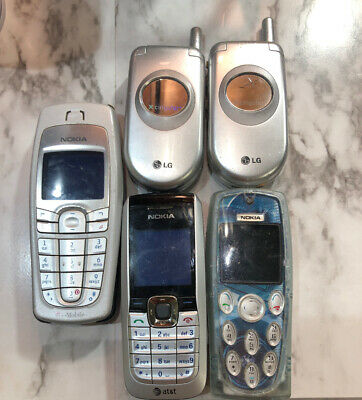 $ CDN95.25 • Buy Lot Of 5 Vintage Mobile Phones - NOKIA, LG