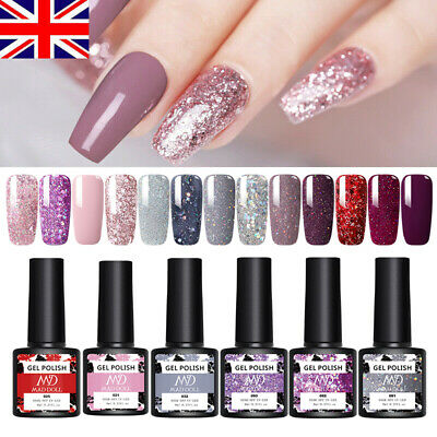 UR SUGAR 7.5ml UV Gel Polish Glitter Shiny Soak Off Gel Varnish Nail Art Decors • 4.29£