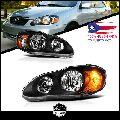 $174.80 • Buy For 2003-2008 Toyota Corolla Replacement Black Headlights Focos Head Lamps LH RH