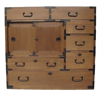Vintage Japanese Ko Tansu Small Chest Cabinet Side Table Furniture  • 1,450$