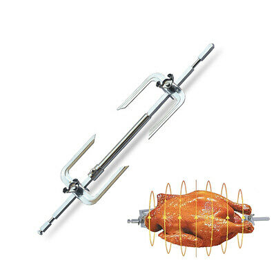 £7.07 • Buy Electric Moter Meat Skewer BBQ Rotisserie Grill Roast Rod Spit Universal Kit