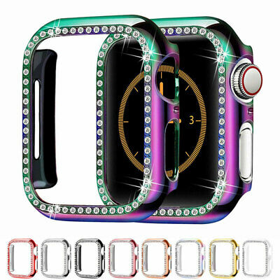 $ CDN4.56 • Buy For Apple Watch IWatch Series 5/4/3/2 Diamond Hard Case Protective Bumper Cover