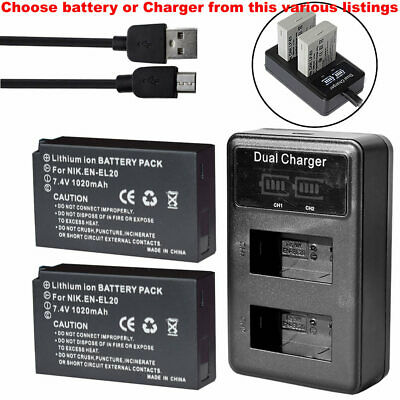 AU28.49 • Buy Battery Or LCD Charger For Nikon DL24-500 F/2.8-5.6, Coolpix P1000 - EN-EL20-a