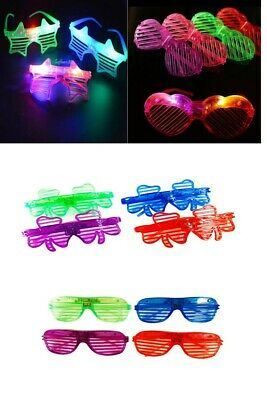 LED Shutter Glasses Men Women Flashing Light Up Rave Party Glow Eye-wear LOT • 5.99£