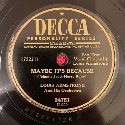 DECCA 24751 Louis Armstrong 78rpm I'll Keep The Lovelight Burning • 9.99$