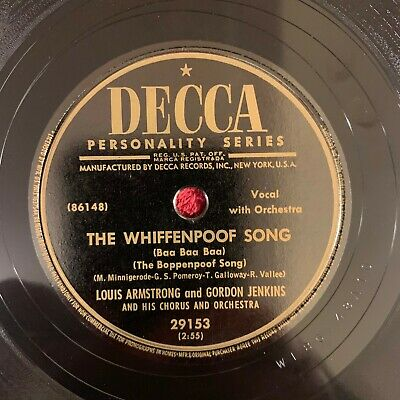 DECCA 29153 Louis Armstrong/Gordon Jenkins 78rpm The Whiffenpoof Song** • 22.99$