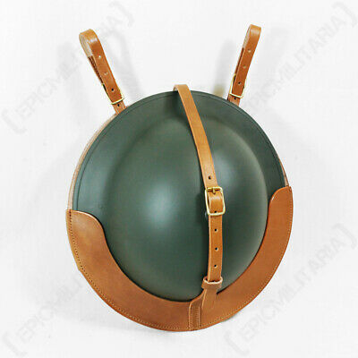 £29.68 • Buy WW2 Reproduction British Brodie Helmet Leather Carrier Brown Leather Officer WW1
