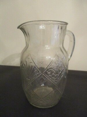 $34.70 • Buy Antique Art Deco Glass Pitcher Water Juice Martini