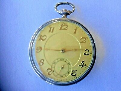 $ CDN198.47 • Buy Antique Swiss Soled Silver .800 Ancre 15 Rubis Brevete Pucket Watch W/ 6 Medals
