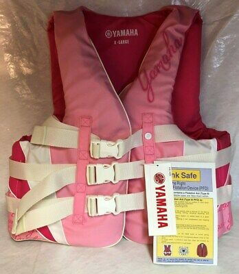AU53.44 • Buy Yamaha Value 3 Buckle Life Jacket Womens Pink Xl Cycle Springs