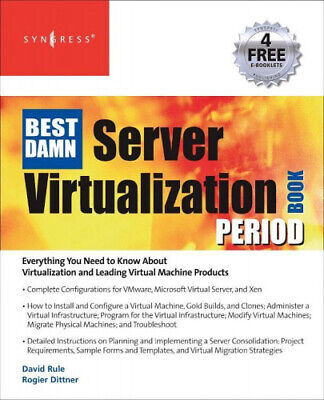 AU88.82 • Buy The Best Damn Server Virtualization Book Period: Including Vmware, Xen, And
