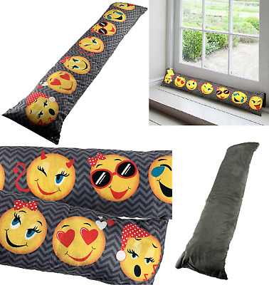 Emoji Draught Excluder Door Window Wind Stopper Cushion Seal Novelty Funny Faces • 8.49£