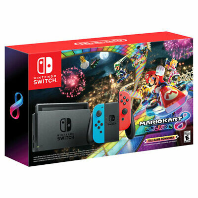 Nintendo Switch 32GB With Mario Kart 8 Deluxe Console Bundle  • 361.99$